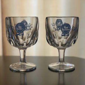 NWOT glass goblets